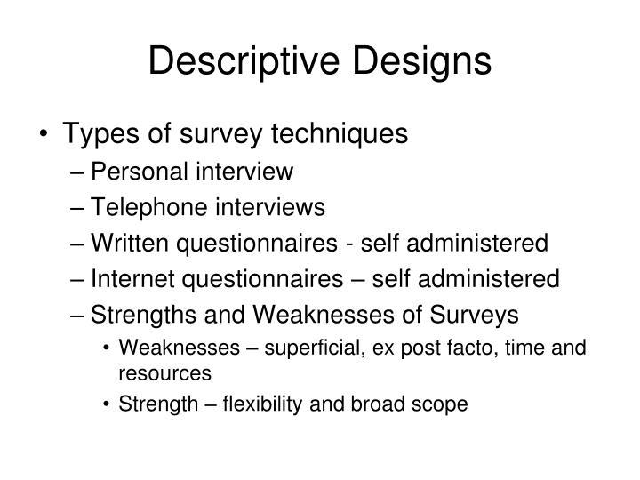 Descriptive Designs