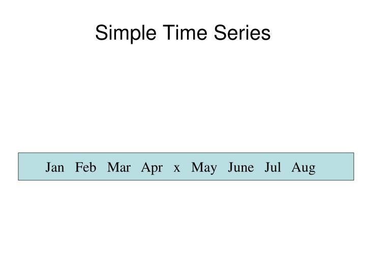 Simple Time Series