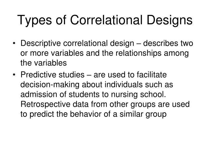 Types of Correlational Designs