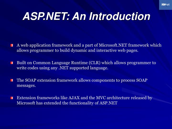 Asp net an introduction