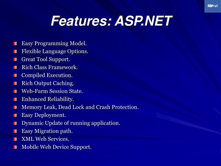Features: ASP.NET