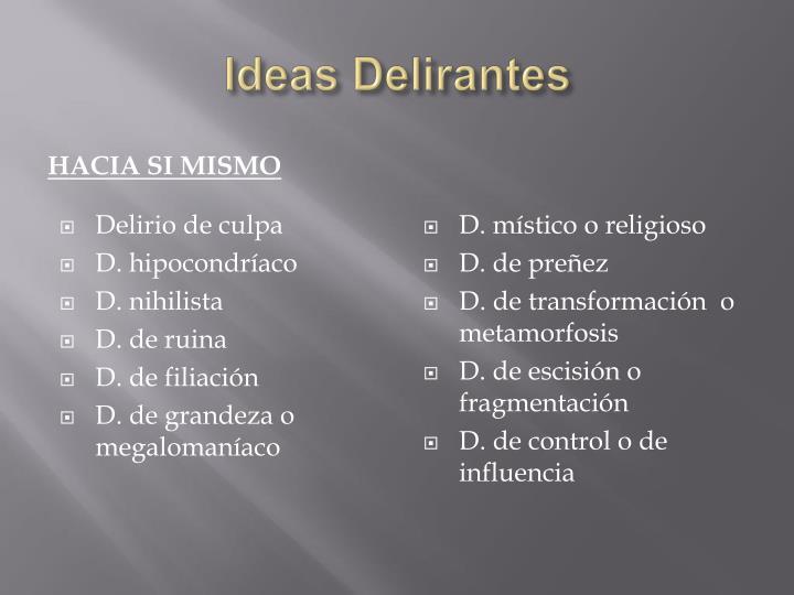 Ideas Delirantes