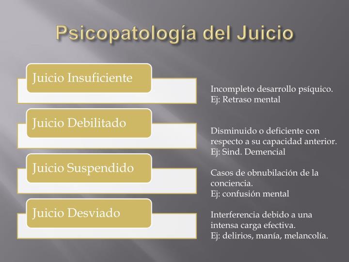Psicopatología del Juicio