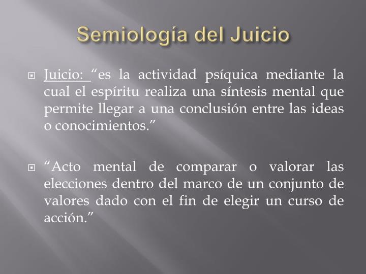 Semiología del Juicio
