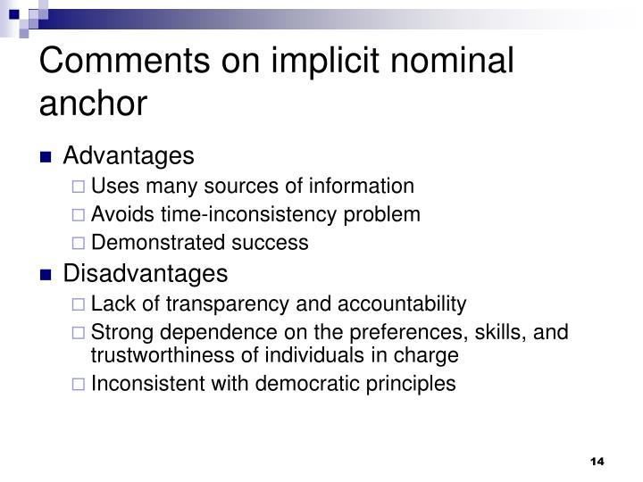 Comments on implicit nominal anchor