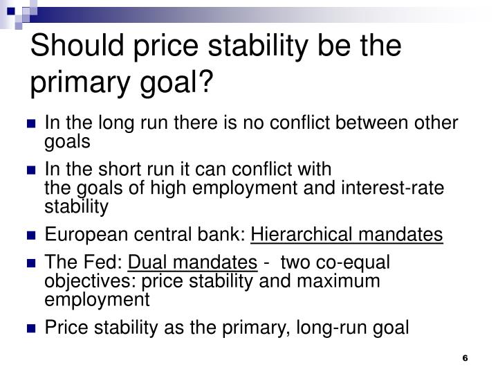 Should price stability be the