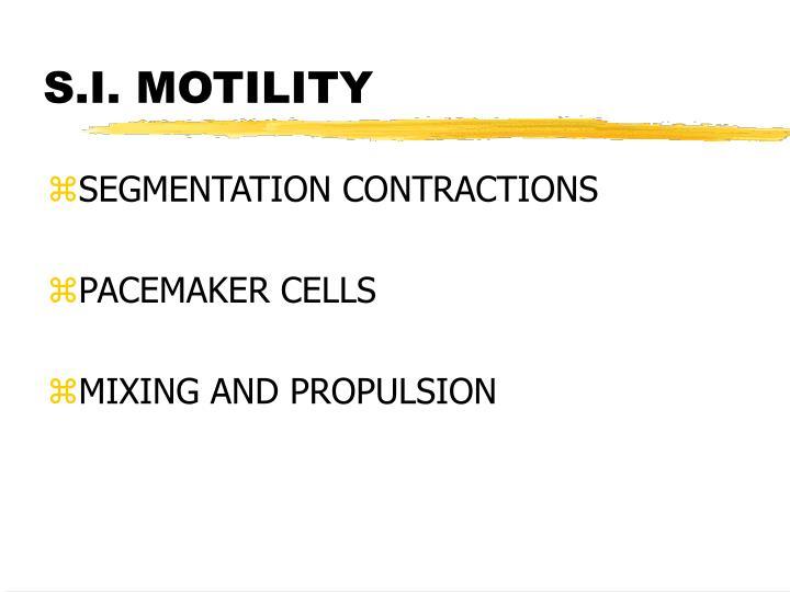 S.I. MOTILITY