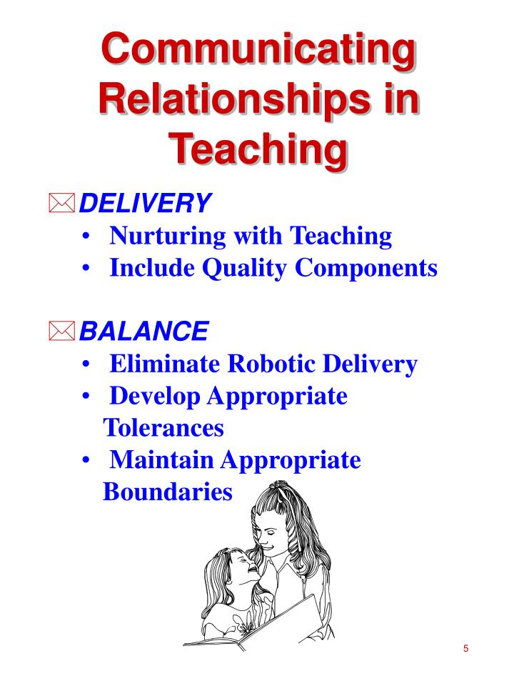 Communicating Relationships in Teaching