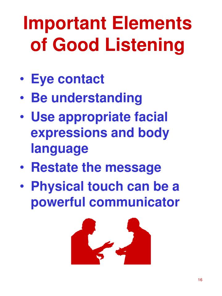 Important Elements of Good Listening