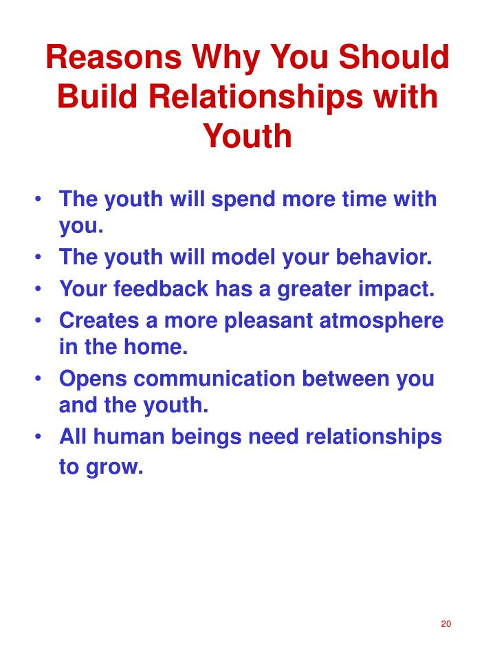 Reasons Why You Should Build Relationships with Youth