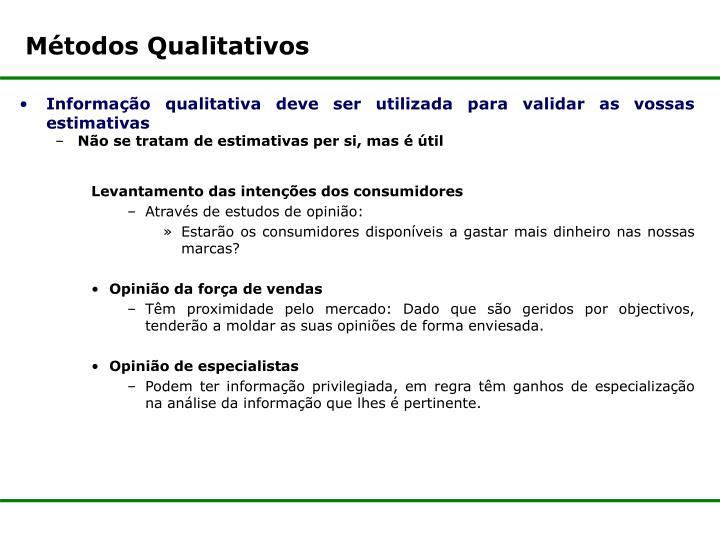 Métodos Qualitativos