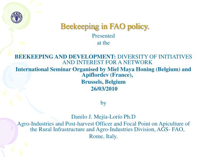 Beekeeping in fao policy
