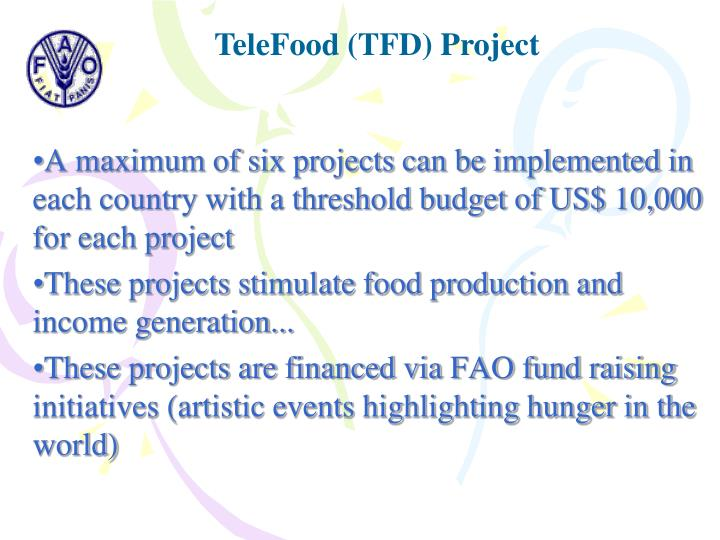 TeleFood (TFD) Project