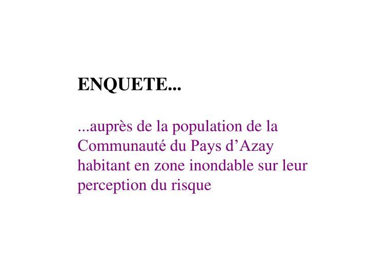 ENQUETE...