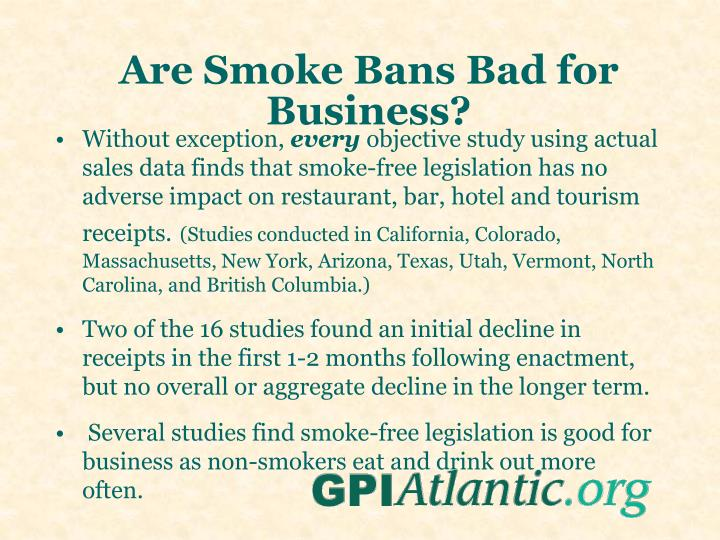 Are Smoke Bans Bad for Business?