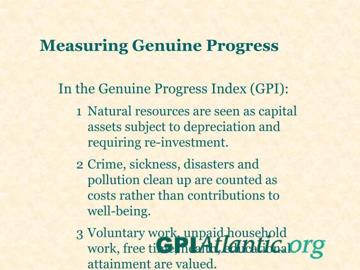 Measuring Genuine Progress