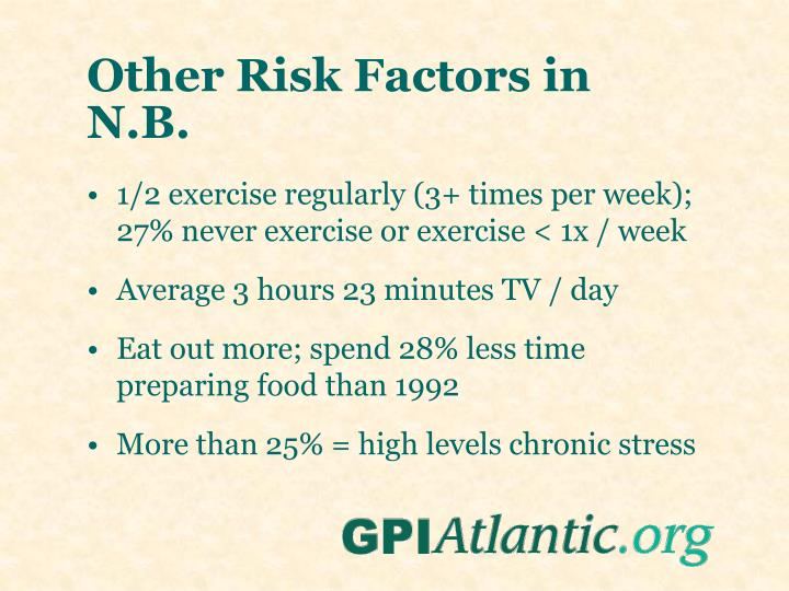 Other Risk Factors in N.B.