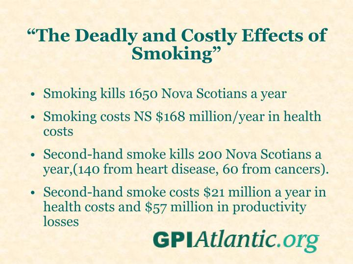 """The Deadly and Costly Effects of Smoking"""
