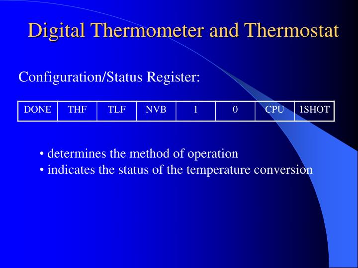 Digital Thermometer and Thermostat