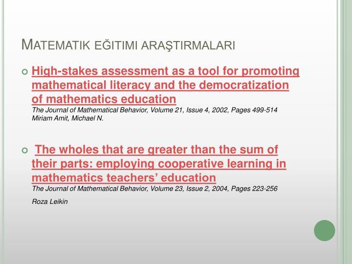 Matematik eğitimi araştırmaları