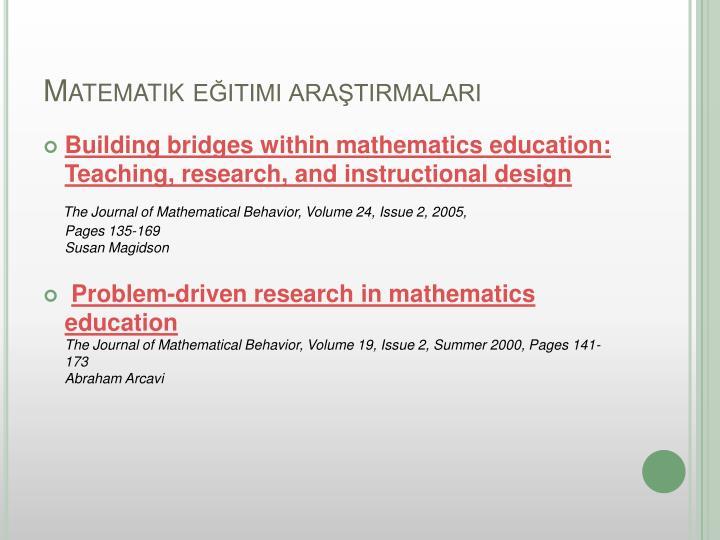 Matematik eğitimi