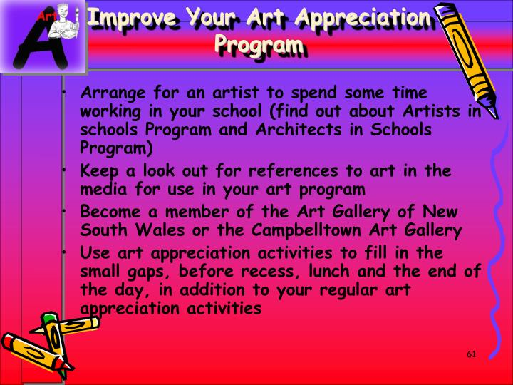 Improve Your Art Appreciation Program