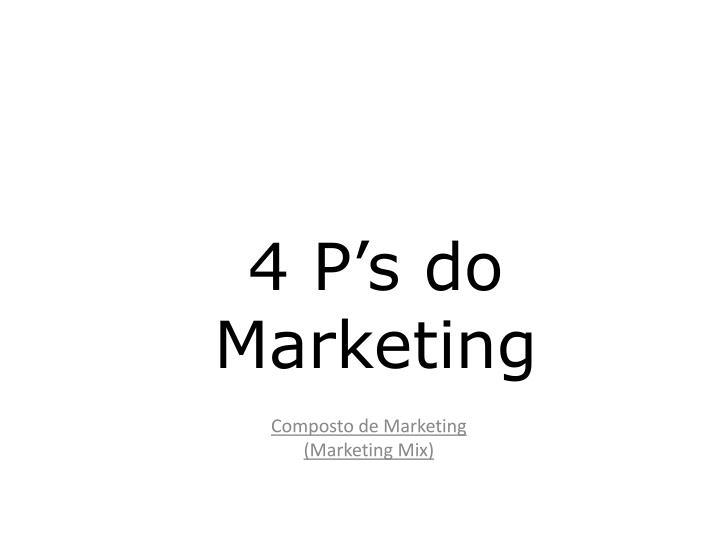4 P's do Marketing