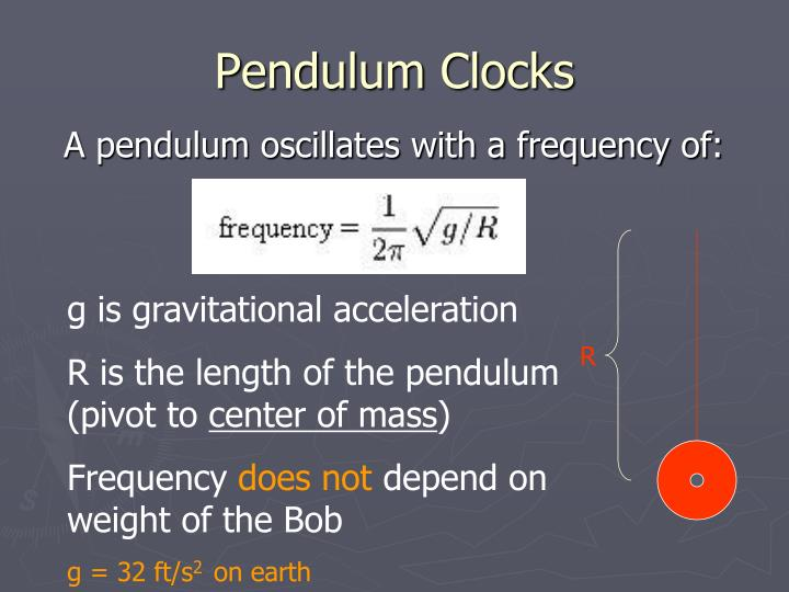 Pendulum Clocks