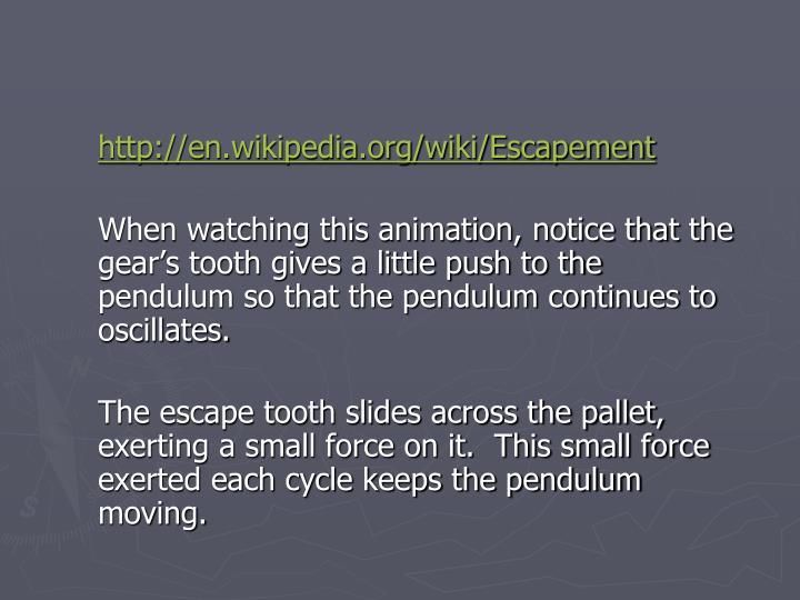 http://en.wikipedia.org/wiki/Escapement
