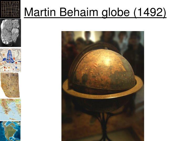 Martin Behaim globe (1492)