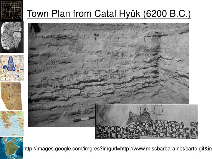 Town plan from catal hy k 6200 b c