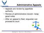 administrative appeals1