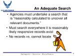 an adequate search