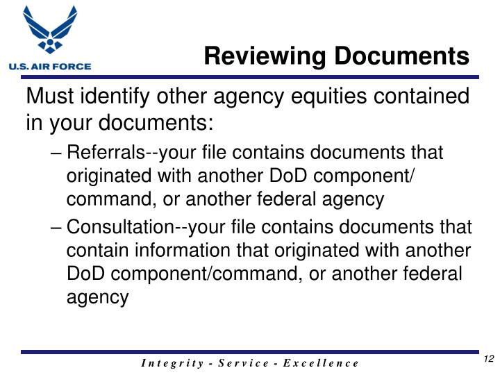 Reviewing Documents