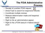 the foia administrative process