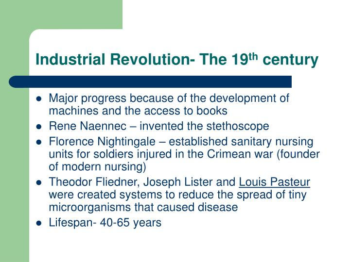 Industrial Revolution- The 19