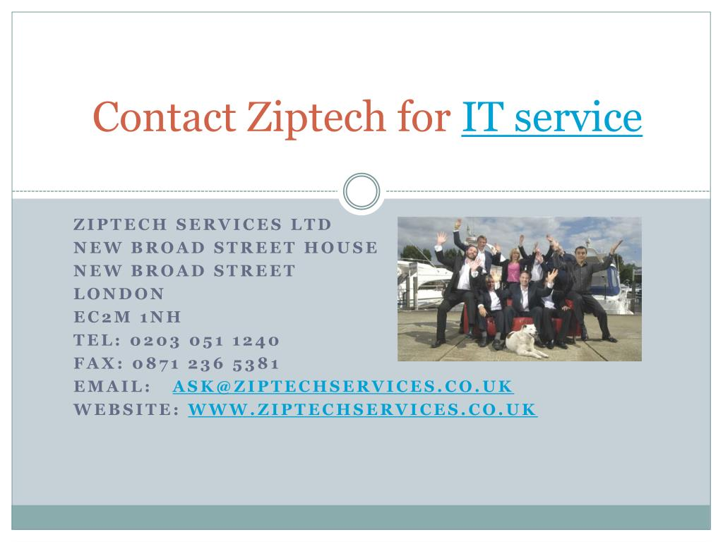 Contact Ziptech for