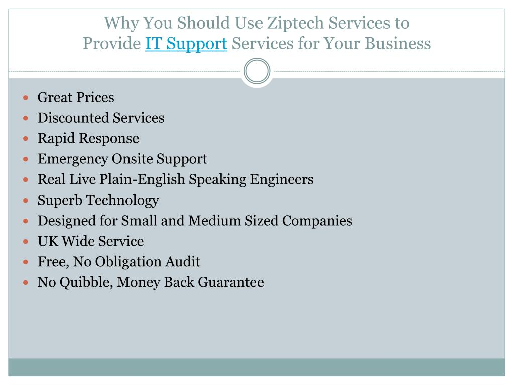 Why You Should Use Ziptech Services to