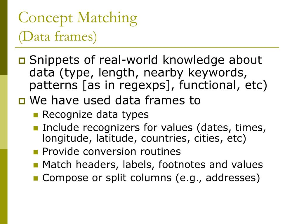 Concept Matching