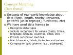 concept matching data frames