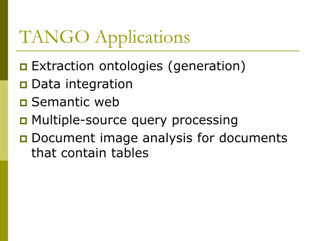 TANGO Applications