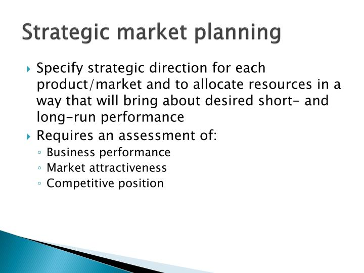 Strategic market planning