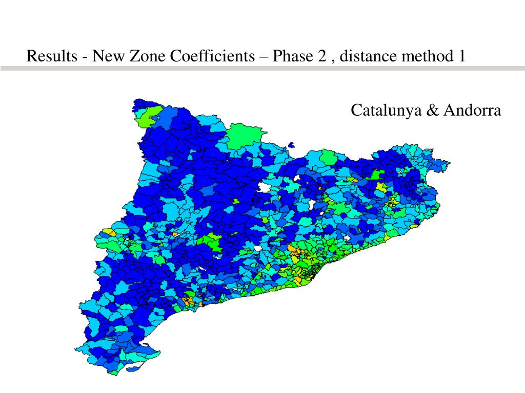 Results - New Zone Coefficients – Phase 2 , distance method 1