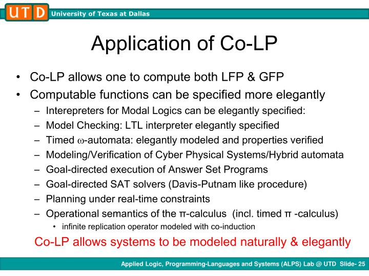 Application of Co-LP
