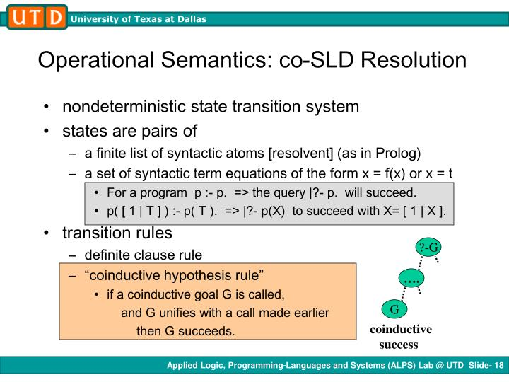 Operational Semantics: co-SLD Resolution