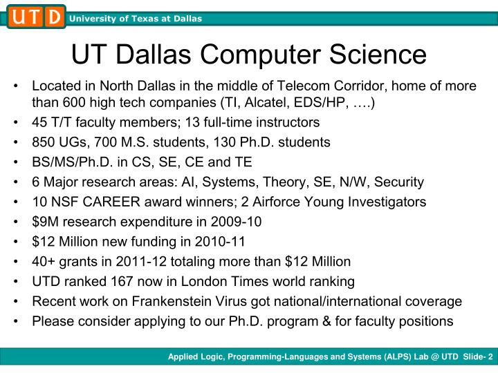 Ut dallas computer science
