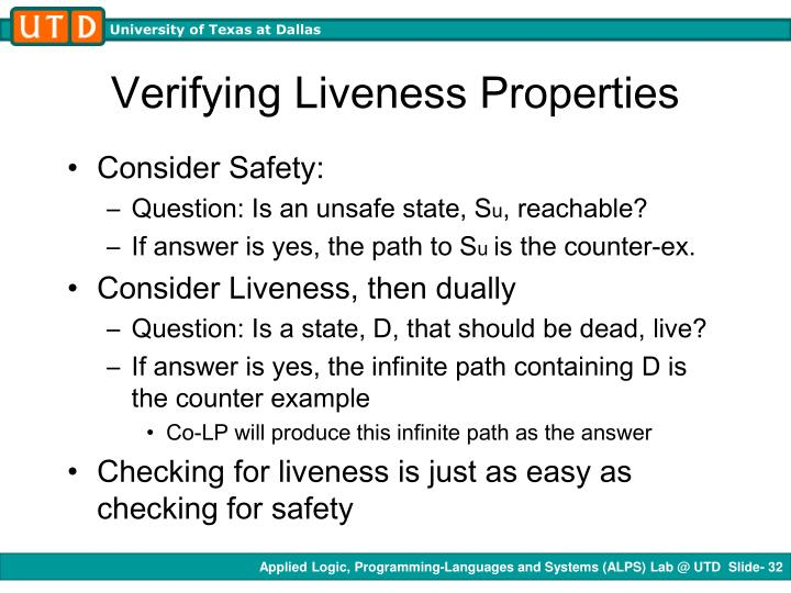 Verifying Liveness Properties