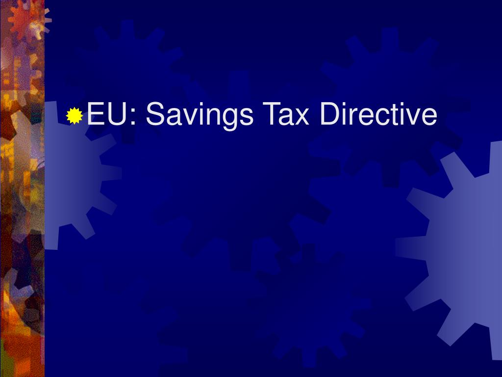 EU: Savings Tax Directive