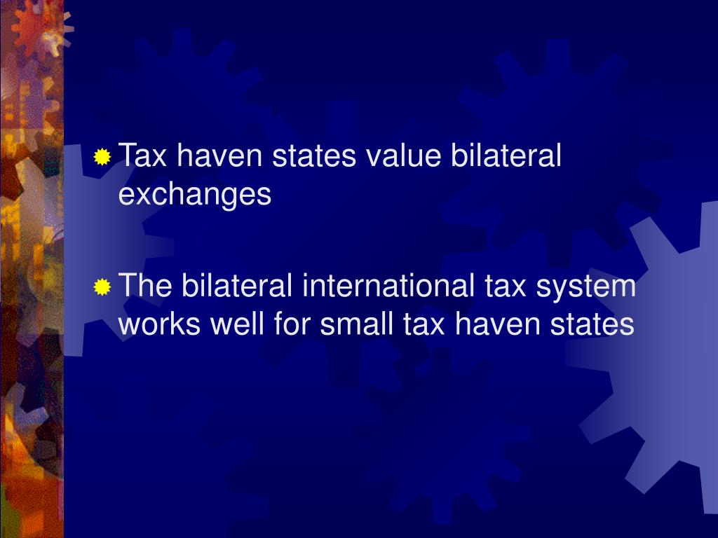 Tax haven states value bilateral exchanges