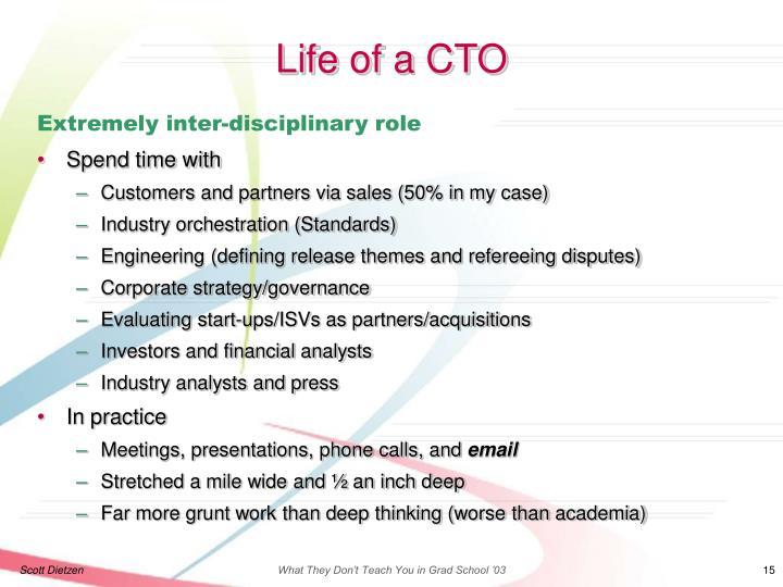 Life of a CTO